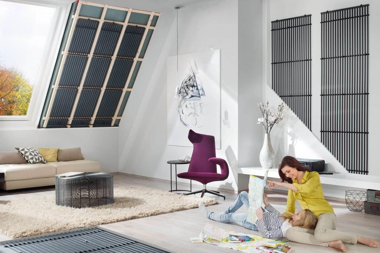 Deckensystem mit Holzunterkonstruktion