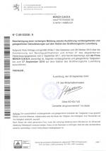 Genehmigung Luxemburg